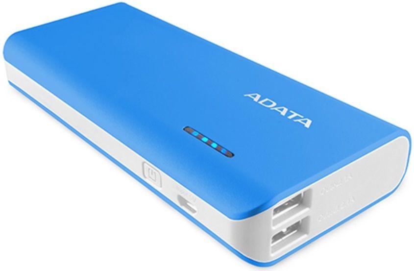 Adata Power Bank PT100 (10000 mAh), modrá/bílá