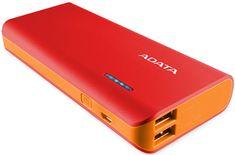 A-Data Powerbank PT100 10000 mAh, czerwony/pomarańczowy