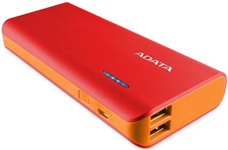 Adata Power Bank PT100 (10000 mAh), červená/oranžová