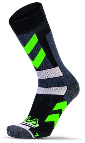 FILA Skating Socks Stripes Green S 35-38