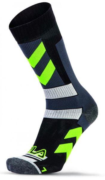 FILA Skating Socks Stripes Yellow 35 - 38