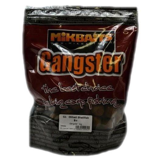 Mikbaits boilies Gangster 10 kg 24 mm g3 losos&caviar&black pepper