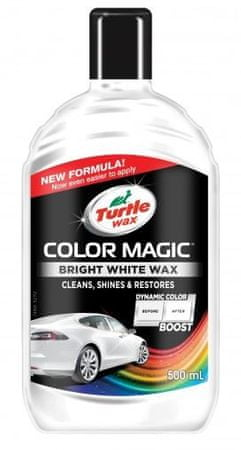 Turtle Wax polirna tekočina Color Magic Bright Wax, bela