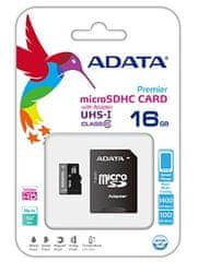A-Data microSDHC 16GB UHS-1 AUSDH16GUICL10-RA1 Memóriakártya + adapter
