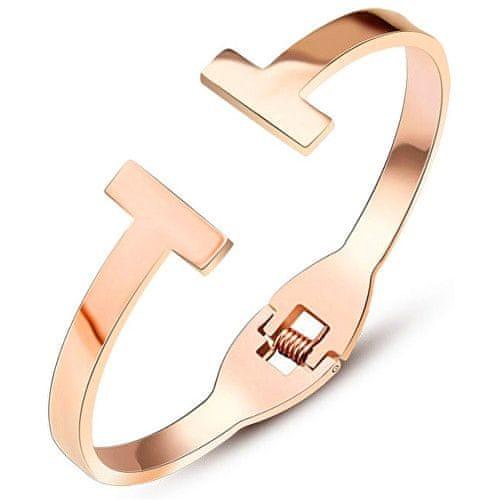 Troli Luxusní růžově pozlacený náramek ve stylu Tommy Hilfiger
