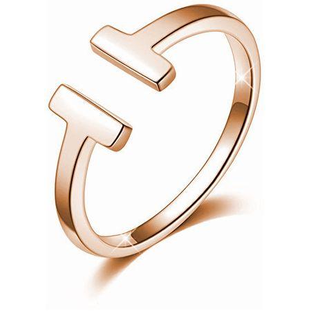 Troli Otevřený růžově pozlacený prsten z oceli ve stylu Tommy Hilfiger (Obvod 52 mm)