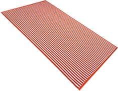 Carbotex ręcznik plażowy Beach Waves pomarańczowy 90x170 cm