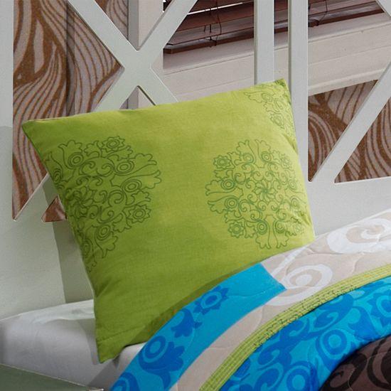 BedTex Přehoz Sedef Zelený 220x240 + 2x 40x40 cm