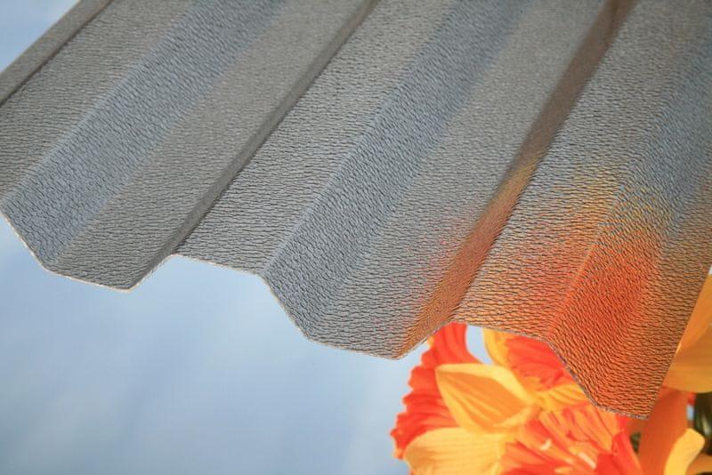 LanitPlast Trapézový polykarbonát Marlon CSE ORIGINAL síla 0,8 mm bronz 1,06x4 m