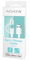 A-Data podatkovni kabel Lightning USB & microUSB MFi