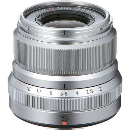 FujiFilm objektiv XF 23mm F2.0 R, srebrn