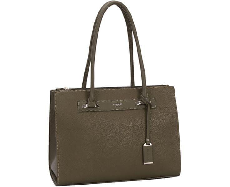 David Jones Dámská elegantní kabelka Khaki CM3503