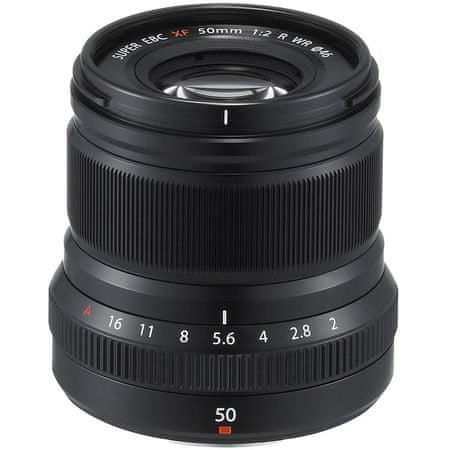 FujiFilm objektiv XF 50mm f/2 R WR, črn