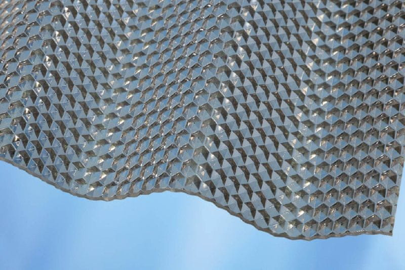 LanitPlast Vlnitý polykarbonát Marlon CSE Diamond síla 2,6 mm čirý 1,045x5 m