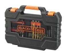 Black+Decker 76-dílná sada vrtáků a šroubovacích bitů
