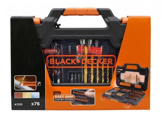 Black+Decker 76-delni komplet pribora A7231-XJ