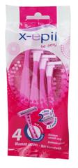 X-Epil XE9234 Eldobható női borotva, 2 pengés, 4 db
