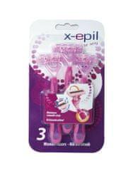 X-Epil XE9235 Eldobható női borotva, 3 pengés, 3 db