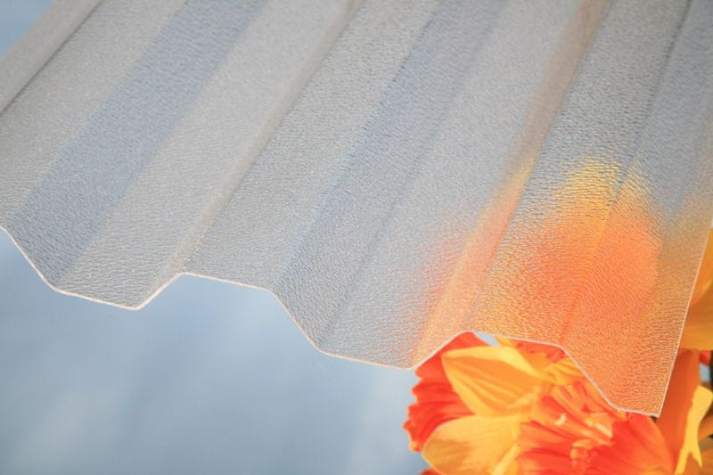 LanitPlast Trapézový polykarbonát Marlon CSE ORIGINAL síla 0,8 mm čirý 1,06x4 m