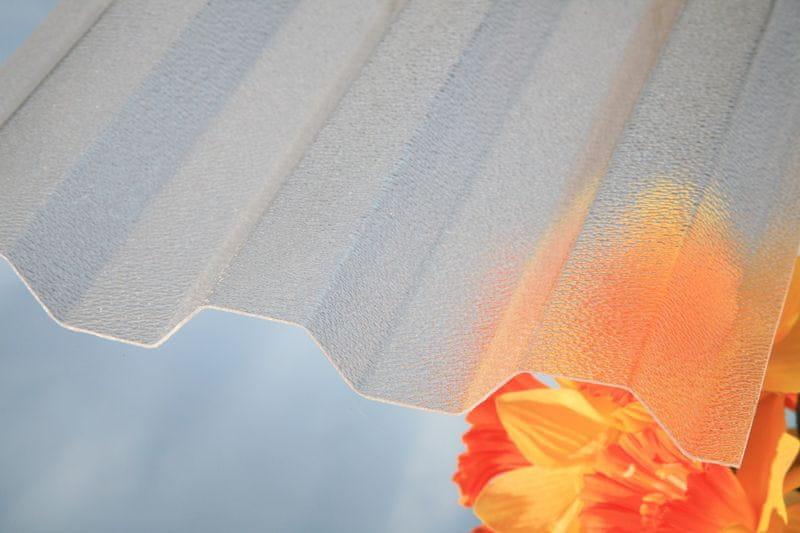 LanitPlast Trapézový polykarbonát Marlon CSE ORIGINAL síla 0,8 mm čirý 1,06x2,5 m