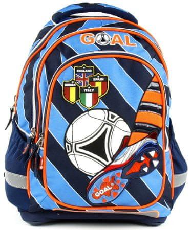 e4df0bb01ba Target Školní batoh Goal modré proužky