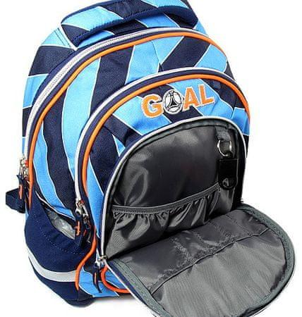 Target Školní batoh Goal modré proužky  131accf7f9