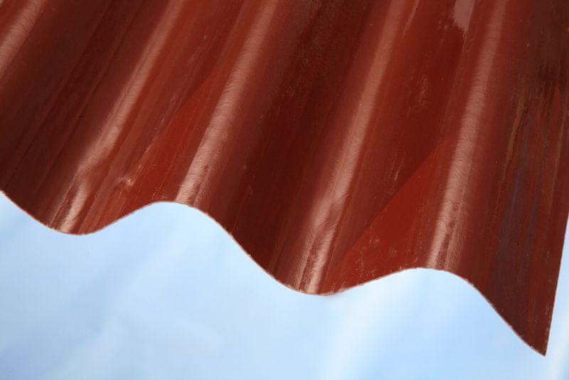 LanitPlast Sklolaminát vlna 94/35 síla 0,71 mm červený 0,94x2 m