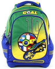 Target Školní batoh Goal modro-zelený
