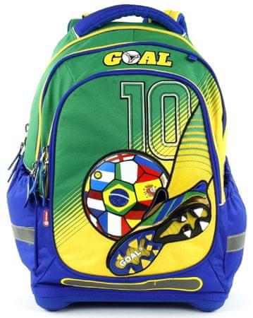 Target Školní batoh Goal modro-zelený  b642acdfd5