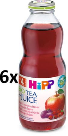 HiPP BIO Nápoj so šťavou z červených plodov a šípkovým čajom - 6x0,5l