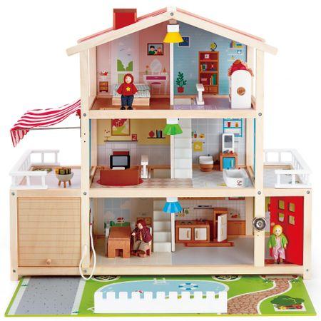Hape duży domek z garażem