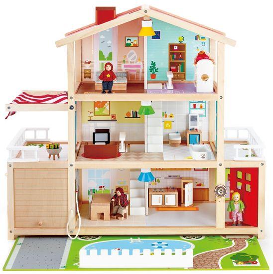 Hape hiša za punčke, družinska