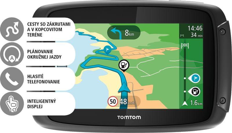 TomTom Rider 42 CE - LIFETIME s doživotní aktualizací map Evropy