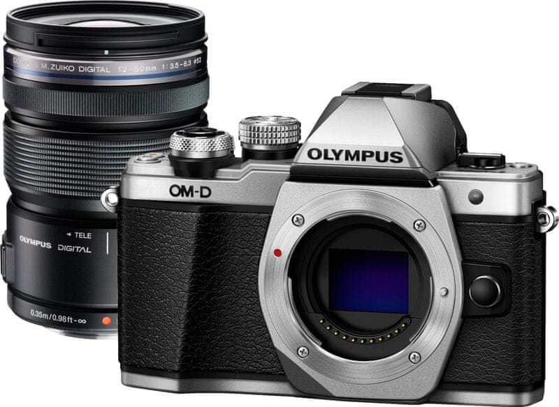 Olympus OM-D E-M10 Mark II Silver/Black + M.ZUIKO ED 12-50 mm EZ Black