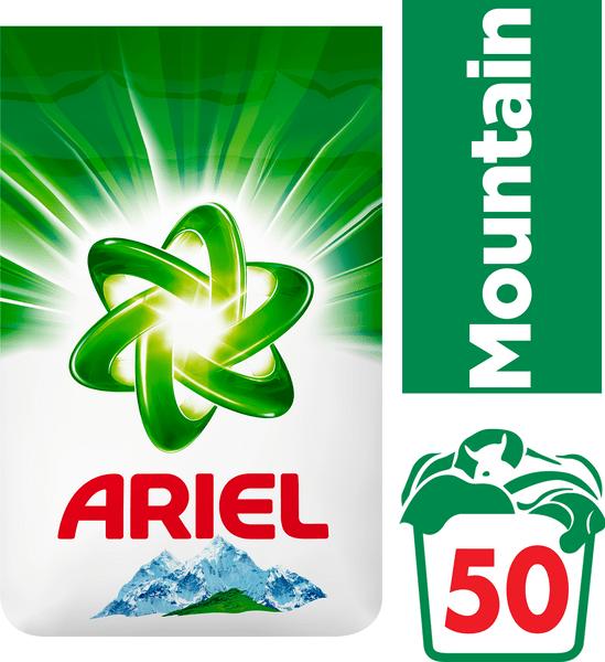 Ariel Mountain Spring prací prášek 3,5 kg, 50 praní