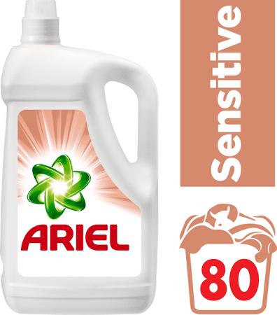 Ariel pralni gel Sensitive, 5.2 l, 80 pranj