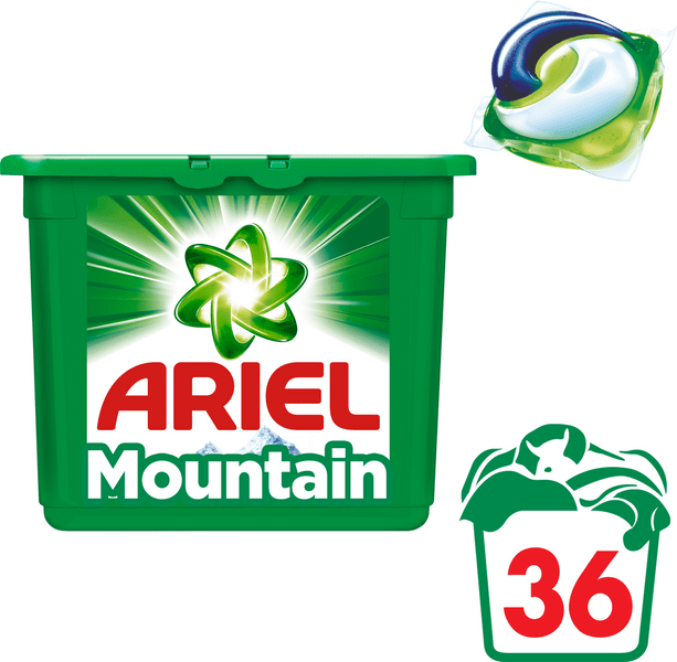 Ariel Mountain Spring 3v1 gelové kapsle 36 ks