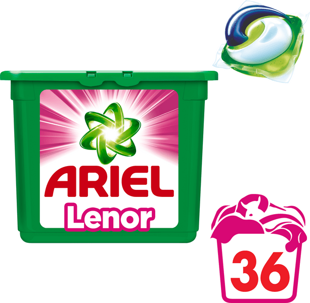 Ariel Touch of Lenor 3v1 gelové kapsle 36 ks