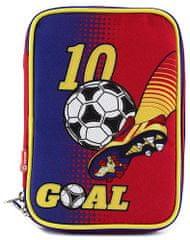 Target Školní penál s náplní Goal červeno modrý