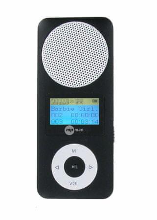 MP Man MP3 predvajalnik FIESTA2 4 GB, črn