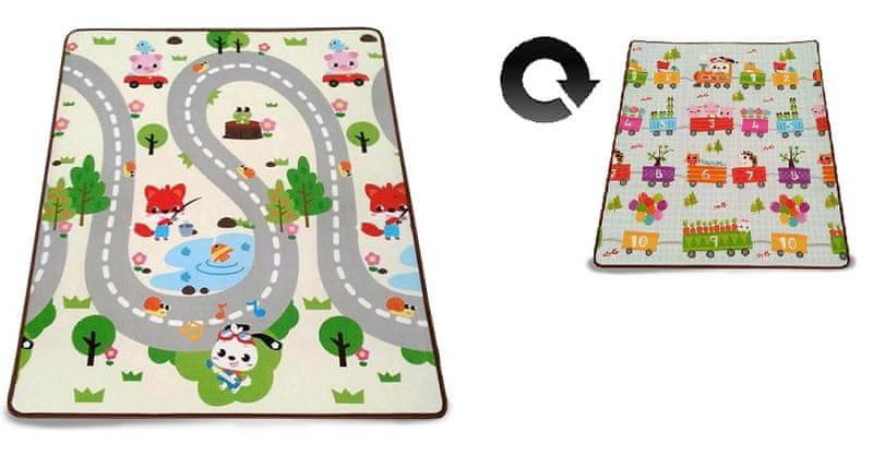 Petite&Mars Podložka na hraní Joy 180 x 200 x 1 cm Adventure