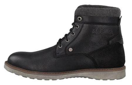 s.Oliver pánská kotníčková obuv 44 čierna