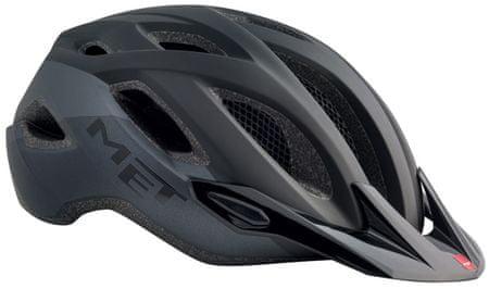 MET kolesarska čelada Crossover, črna, 52 - 59 cm
