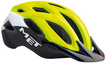 MET Crossover Reflexná Žltá/Biela/Čierna (52-59 cm)
