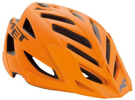 MET kolesarska čelada Terra, oranžna, (54-61 cm)