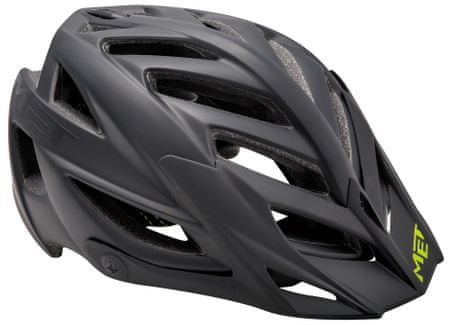 MET kolesarska čelada Terra, črna, (54-61 cm)