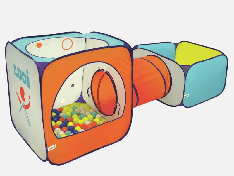 Ludi Hrací ohrádka, stan a tunel Sport