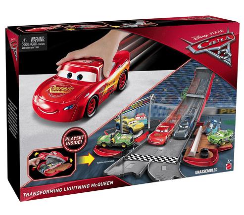 Mattel Cars 3 Transformující se auto - Blesk McQueen červený
