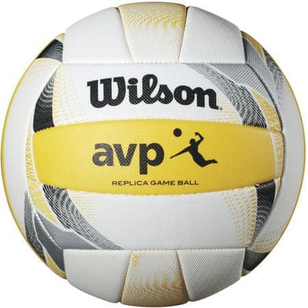 Wilson Avp II Replica Beach White Yellow Volleyball