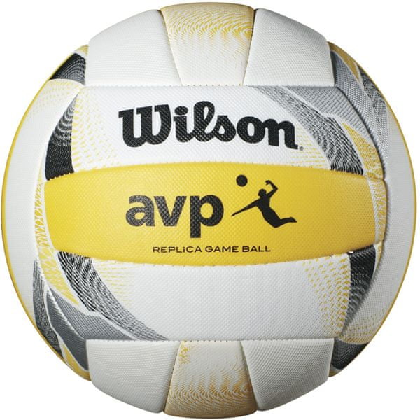 Wilson Avp II Replica Beach White Yellow Volleyball